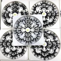 extensión de pestañas de volumen al por mayor-Mikiwi 7 pares 25 mm de largo Faux 3D Pestañas de visón Pestañas postizas largas naturales Volumen dramático Pestañas postizas Extensión de maquillaje Pestañas