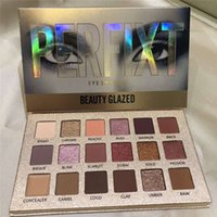 Wholesale MAKEUP BEAUTY GLAZED colors Perfixt Eyeshadow Palette Glitter Metallic Perfect Color Nude Creamy Pigmented Professional Shadow