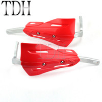 Wholesale handlebars crf resale online - Red Motorcycle quot mm Hand Brush Guard Handlebar Protector Hand Shields Deflector Armor For XR CR CRF