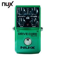 pedal pedalını itme toptan satış-NUX Sürücü Çekirdek normal ve lüks Gitar Violao Parçaları Elektrikli Etki Pedal Boost ve Overdrive Ses Karışımı Gerçek Bypass