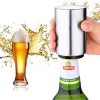 bouteille magnétique achat en gros de-Ouvreur de bouteille de bière automatique magnétique en acier inoxydable ouvre - bocal cuisine Bar Accessoris ouvre - boîtes de vin jouet