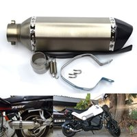 Wholesale exhaust hose for sale - For ZS Racing Modified Big Size Motocross Yoshimura Akrapovic Motorcycle Exhaust Muffer Hose With DB Killer Z750 TMAX DUC CB400 CBR