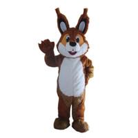 ingrosso avvolgere la pubblicità-Costume adulto del costume del costume della mascotte su ordinazione marrone dello scoiattolo con il fan per la promozione di pubblicità commerciale