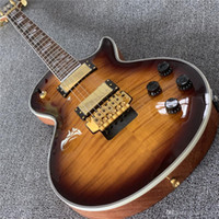 Wholesale brown ebony guitar resale online - Deluxe ebony fingerboard gold hardware Tobacco burst color Electric Guitar