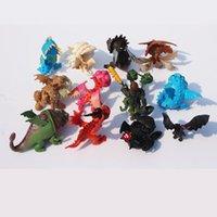 zahnloses drachenspielzeug groihandel-13pcs / set Wie Drachenzähmen trainieren 3 Action-Figuren Spielzeug Zahnlos Schädel Gronckle Deadly Nadder Nacht Fury Dragon Figures Kinder Spielzeug C21
