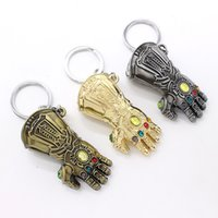 Wholesale Avengers Keychain New cartoon weapon glove alloy fist key ring Action Figures toys colors cm C6792