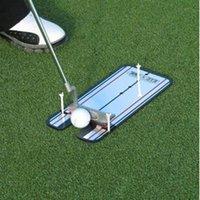 aides à la pratique du golf achat en gros de-tas de formation aux malades du SIDA Accessoires Golf Golf Training Aids swing Entraîneur pratique Droit Net Mettre Mat alignement swing formateur Ey ...