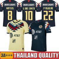 uniformes de football américain achat en gros de-2019 LIGA MX Club America Maillots 19 20 C. DOMINGUEZ O. PERALTA P. AGUILAR Hommes Femmes Uniformes de maillots de football