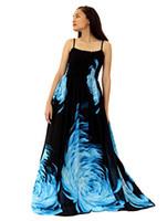 ingrosso abito da sera nero di gala-MayriDress Maxi Dress Plus Size Abbigliamento Black Ball Gala Party Sundress Evening Long Floral Women