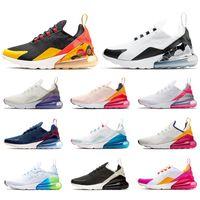 sapatos de malha roxa venda por atacado-nike air max 270 Novos homens mulheres running shoes Malha de Malha Cunhas Preto Bege Pastel Azul Marinho Espaço Roxo Floral Heel moda mens formadores sports sneakers
