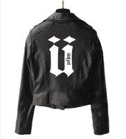 topo do topo venda por atacado-Nova jaqueta senhoras unkut jaqueta de couro da motocicleta com zíper de couro punk locomotiva unkut top esportivo