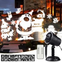 projetores de paisagem ao ar livre venda por atacado-Luzes de natal Projetor 3D Girando Luzes Do Projetor de Natal À Prova D 'Água Paisagem Graden Holofotes Decoração de Iluminação de Palco Ao Ar Livre Indoor