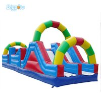 aufblasbare amusements groihandel-YARD Aufblasbarer Hindernisrutschbahnrennspiel-Riesenhindernisparcours für Vergnügungspark