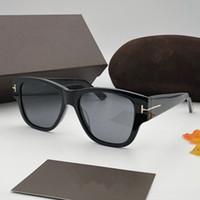 grandes gafas de sol hombres marco negro al por mayor-Lujo 0601 Gafas de sol para hombres Mujeres Cuadrado Deisnger Full Frame UV400 Lens Summer Style Adumbral Butterfly color negro Cara grande con estuche