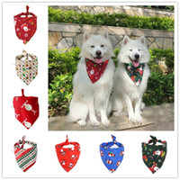 Wholesale christmas bows for dogs resale online - Christmas Dog Costume Triangular Bandanas Pet Scarf For Dogs Cats Neckerchief Dog Apparel Christmas Decoration Pet Grooming Supplies