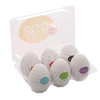 diversão de massagem venda por atacado-Nova Diversão TENGA Egg Cup Top Venda Sexy Brinquedos Para Homens, Silicone Massagem Sexual Segura Macio de Bolso 6 estilos