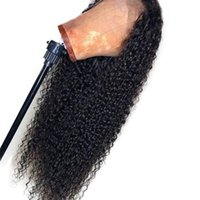 Wholesale big virgin black lady online - Silk Top Curly Full Lace Wig With Baby Hair Glueless Brazilian Virgin Silk Base Curly Lace Front Wig Pre Plucked For Black Women