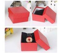 papier bijoux oreiller boîte achat en gros de-Nouveau 20 PCS montres boîte de montre en papier boîte avec oreiller 6 couleurs boîtes cadeau de papier cas pour la boîte à bijoux boîtes de montre cas