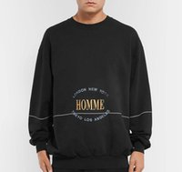 19FW HOMME Embroidery Letters Sweatshirts Fashion Men Women Couple Sweatshits Top Quality Hip Hop Hoodies BB