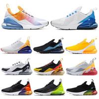 gökkuşağı ayakkabıları kadınlar toptan satış-Nike Air Max 270 Shoes Koşu Ayakkabıları Toplam Turuncu Gerçek Savaşçılar Olabilir Habanero Kırmızı Gerileme Gelecek TFY Vibes Kadınlar Erkek Eğitmen Spor Sneakers 36-45
