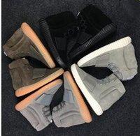 кожа темно-коричневая оптовых-No box Nen 750 кроссовки светятся в темно-коричневый Kanye West кожаные ботильоны Мужские спортивные кроссовки размер 40-46