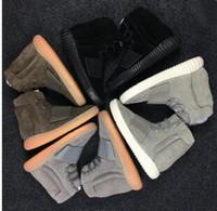 ingrosso scarponi da scarpe-No box NEN 750 Sneakers Glow In The Dark Marrone Stivaletti in pelle Kanye West da uomo Sport Running Shoes taglia 40-46