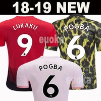 Wholesale uniform sets for sale - 18 FC Manchester United Soccer Jersey Man Jersey UTD POGBA LUKAKU RASHFORD ALEXIS Football Shirt Kit adult MEN and KIDS set Uniform