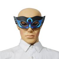 alien lichter großhandel-Neue Halloween Party Maske LED Licht Sound Control Glühende Party Dress Up Party Patch Cosplay Maske Cool Alien Kostüm Zubehör FE-EQ-01