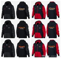 urso vermelho venda por atacado-Novo Tipo de Roupas de Guarda de 2019 preto e vermelho Denver Los Angeles Chicago Detroit Ursos Rams Lions Broncos camisola do hoodie