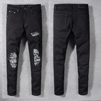 Wholesale designer clothes men trousers for sale - Mens Designer Pants Casual Terry Trousers Mens Designer Jeans Mouth Beam Foot Jogging Basketball Male Clothing Mens Jeans