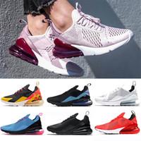 mavi kadın koşu ayakkabıları toptan satış-nike air max 270 airmax 270s Yastık Mens Womens Koşu Ayakkabıları Pembe BARELI GÜL Üçlü beyaz siyah Sıcak Yumruk Sepya Taş BeTrue Fotoğraf Mavi Tasarımcı Sneaker Koşucu
