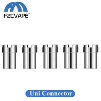 anéis do conector da bateria venda por atacado-Autêntico Yocan Uni Ímã Anel de Conector Magnético Adaptador de Aço Inoxidável para Cartuchos de Óleo Grosso para Uni Caixa de Bateria Mod 100% Original