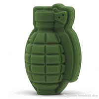 Wholesale party ice molds resale online - 3D Grenade Shape Ice Cube Mold Creative Silicone Trays Molds Kitchen Bar Tool Mens Gift Ice Cream Maker Party Drinks Free DHL