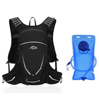 Wholesale camel outdoor backpack resale online - 18L Cycling Backpack Outdoor Sports Running Camel Water Bag Camping Shoulder Water Backpack Portable Mountaineering Drinking Bag