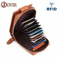 beste kreditkarten-brieftasche großhandel-Echtes Leder Kreditkarte großhandel Halter Brieftaschen Mit Münzfach Mode Männer Business RFID 15 Kartensteckplätze Für Männer designer