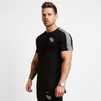 ingrosso run tee-Squalo Vanquish 2018 Stretto Quick Dry Workout Palestre Long Top Tee Sporting Esegue Yoga Compress Compressione Fitness Abbigliamento T Shirt Y190506