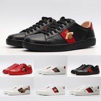italya erkek elbisesi ayakkabıları toptan satış-2020 Lüks İtalya Ace Arı Erkekler Kadınlar Moda Platformu Elbise Günlük Kaykay Ayakkabı Vintage Yıldız Kaplan Marka Tasarımcı Sneakers Ayakkabı