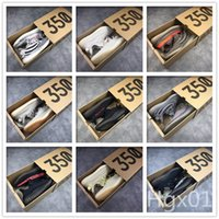 zapatos de rayas de cebra al por mayor-Nuevo 350 V2 zapatillas de running para hombre zebra static Reflective black red stripe butter white sésamo hombres fashion sneakers outdoor training with box 13