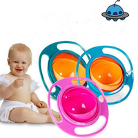 Wholesale toys dishes resale online - Infant Baby Feeding Toy Bowl Dishes Kids Boy Girl Spill Proof Bowl Dishes Factory Price Creative Fantastic And Practical UFO Gyroscope bowl
