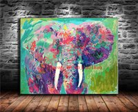 ingrosso tela di pittura di elefanti-Elephant Eyes, Canvas Painting Living Room Home Decor Modern Mural Art Pittura ad olio