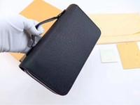 tasche visitenkartenhalter großhandel-Beste Qualität 2018 Männer Leder Marke klassische Luxus Business Brieftasche Casual lange Designer Kartenhalter Inhaber Tasche Mode Brieftaschen Männer Brieftasche