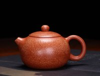 Wholesale purple sand teapot for sale - Group buy Dragon blood sand Teapot Yixing Xishi Teapot ml Zisha Tea pot Purple Clay Teapot Handmade Kung Fu Teaset