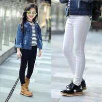 63349e79e 8 Colors Girls Candy Color Leggings Tights Korean Children Slim nine Pencil  pants Cotton Casual Trousers Pant kids boutique designer clothes