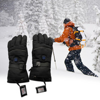 Wholesale battery charging boards for sale - Group buy 1 Pair Waterproof Heated Gloves Battery Powered For Motorcycle Hunting Winter Warmer Two Charging Boards USB Charging Cable
