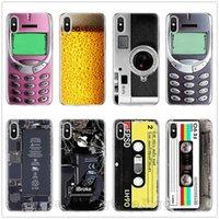 ruban adhésif achat en gros de-Retro Camera Cassette Cassettes Calculatrice Clavier Soft Phone Fundas Cas Pour iPhone 6 6S 7 7Plus 5 5S SE 8 8 Plus X XR XS XS MAX