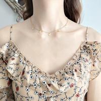 925 sterling silber choker großhandel-925 Sterling Silber Gold Mini Kreuz Halskette Fashion Glamour Female Choker Halskette