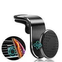Wholesale car outlet phone holder online – Magnetic Car Phone Holder For Iphone11 Universal Air Outlet Metal Magnetic Navigation Car Bracket Degree Rotation