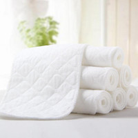 Wholesale washable diapers inserts resale online - 10Pcs Reusable Washable Inserts Boosters Liners Real Pocket Cloth Nappy Diaper Cover Wrap microfibre bamboo charcoal insert