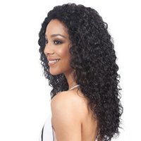 franja de cabelo castanho venda por atacado-Euro-Americano venda Quente personalizado preto marrom cor de vinho oblíqua franja longo encaracolado perucas de cabelo para as mulheres negras