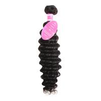 meistverkaufte reine haarverlängerungen großhandel-8-28 Zoll Meistverkaufte Natürliche Hochwertige Tiefe Welle Reines Menschenhaar Haarverlängerung Schüsse